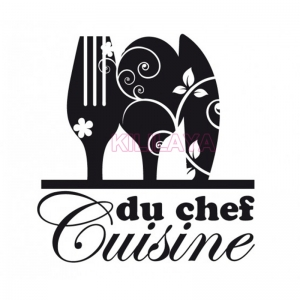 Stickers-French-Cuisine-du-chef-Vinyl-Wall-Sticker-Elephant-Mural-Wall-Art-font-b-Kitchen-b